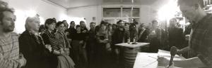 Soirée de Lancement du livre, novembre 2014, Brasserie de la Bière de la Plaine, Marseille. Public : une soixantaine de personnes.